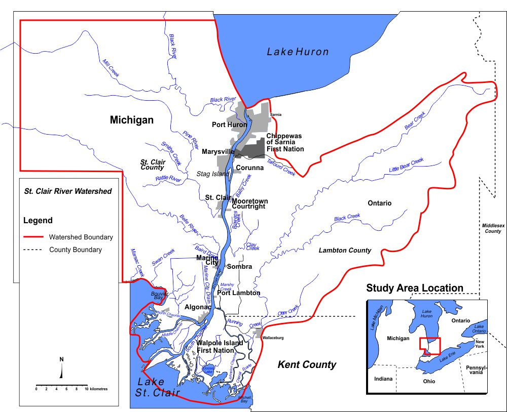St Clair River Watershed